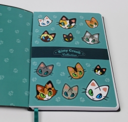 Internal side - Stickers page on Kitty Crush Notebook - Kitty Crush Collection